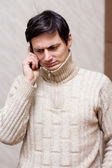 Man with phone — Stock Photo