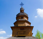 Real middle ages wooden orthodox church — Stock Photo