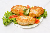 Cutlets and vegetables — Stock Photo