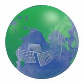 Renewable energy Earth globe — Stock Photo