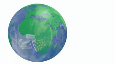 Renewable energy Earth globe — Stock Video