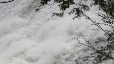 Skummande vattenkaskad — Stockvideo