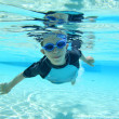 Boy swimming, underwater shot — Stock Photo #19253889