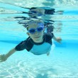 Boy swimming, underwater shot — Stock Photo