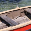 Stock Video: Old red boat