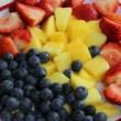Plate of fruit salad — Stock Photo #37613195