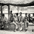 A group of Ghanaian children — Foto de Stock