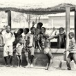 A group of Ghanaian children plays — Stock Photo