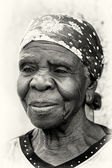Nice old lady from Ghana — Stock Photo