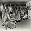 A man from Togo is prepared to eat fire — Foto de Stock