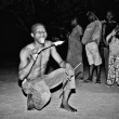 Man from Togo is about to eat fire - Foto Stock
