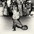 Stock Photo: Acrobatic tricks by boy from Togo
