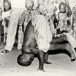 Stok fotoğraf: Boy from Togo show acrobatic tricks
