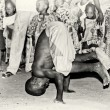 Stock Photo: Boy from Togo show acrobatic tricks
