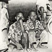 Togo hüzünlü çocuklar — Stok fotoğraf