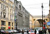 Nevskiy avenue in Saint Petersburg — Stock Photo