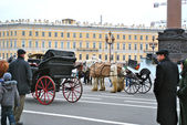 Excursions by horses in Saint Petersburg — Stock Photo