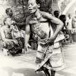 Woman from Togo dances very concentrated — Stok fotoğraf