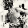 Stock Photo: Dances from lady from Togo