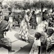 Men, womrn and children from Togo participate in a local fair — Stock Photo