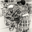 Two ladies from Togo help their friend which loses control under voodoo enchantment — Stock Photo #12074091
