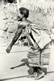 Dance of the woman from Togo — Stock Photo