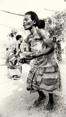 Lady from Togo dances voodoo — Stock Photo
