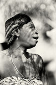 Lady from Togo is sad — Stockfoto