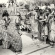 Dance of a half naked woman from Togo — Stock Photo