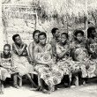 Stock Photo: Spectators of show in Togo