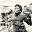 Dance of a woman from Togo - Stock Photo
