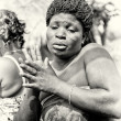 Woman from Togo dances - Stock Photo