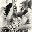 Dance of a happy woman from Togo — Stock Photo