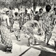Group of women from Togo dances — Stock Photo