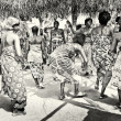 Stock Photo: Group of women from Togo dances