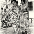Stock Photo: Women from Togo dance with such huge desire