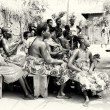 Stock Photo: Spectators of show from Togo