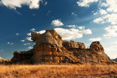 Mountain of Madagascar in a very sunny African day — Stock Photo