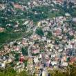 Lugano, Switzerland, from air — Stock Photo #12190235