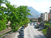 Roads of Lugano, Switzerland — Stock Photo