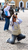 Zwei touristen fotografieren — Stockfoto