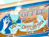 Nescafe big board from Disneyland of Paris — 图库照片