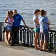Big family near river — Stock Photo #12265950