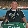 Стоковое фото: Beer seller on match of EURO 2012 Italy against England in Kiev, Ukraine