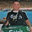 Zdjęcie stockowe: Beer seller on match of EURO 2012 Italy against England in Kiev, Ukraine