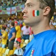 Intense Italian fan during the match of EURO 2012 Italy against England in Kiev, Ukraine — Stock Photo #12275302