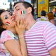 Happy couple in Kiev during EURO 2012 - Stock Photo