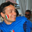 Happy fan of the Italian national team during EURO 2012 — Stock Photo