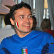 Happy fan of the Italian national team during EURO 2012 - Stock Photo