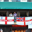 English fans with banners in KIev, Ukraine during EURO 2012 — Stock Photo #12276172